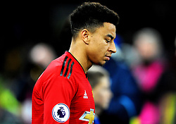 Jesse Lingard of Manchester United  walks outs on to the pitch prior to kick-off- Mandatory by-line: Nizaam Jones/JMP - 22/12/2018 -  FOOTBALL - Cardiff City Stadium - Cardiff, Wales-  Cardiff City v Manchester United - Premier League