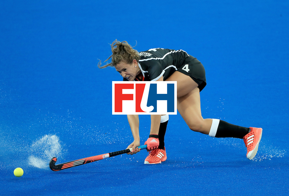 RIO DE JANEIRO, BRAZIL - AUGUST 11:  Nike Lorenz of Germany makes pass during a Women's Preliminary Pool A match against Spain at the Olympic Hockey Centre on August 11, 2016 in Rio de Janeiro, Brazil.  (Photo by Sam Greenwood/Getty Images)