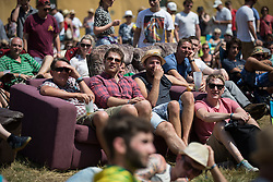 Image ©Licensed to i-Images Picture Agency. 18/07/2014  Henham Park , Suffolk, United Kingdom. Crowds watching the Comedy Stage at Henham Park on what is forecast to be the hottest day of the year so far with temperatures due to hit 30 degrees centigrade. The Latitude Festival of music and arts. Picture by Joel Goodman / i-Images