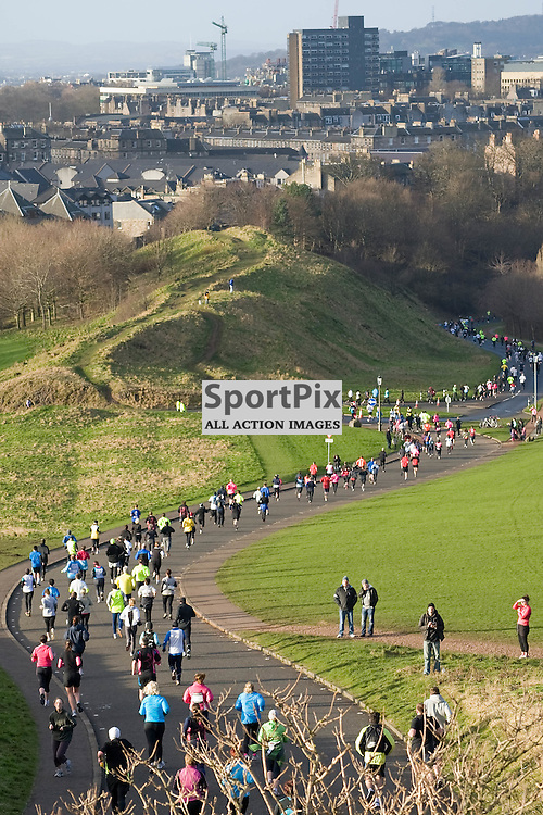 Hundreds of runners took part in the BUPA Great Winter Run 5km around Arthur's Seat Edinburgh