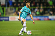 Forest Green Rovers Liam Shephard(2) on the ball during the EFL Trophy match between Forest Green Rovers and Cheltenham Town at the New Lawn, Forest Green, United Kingdom on 4 September 2018.