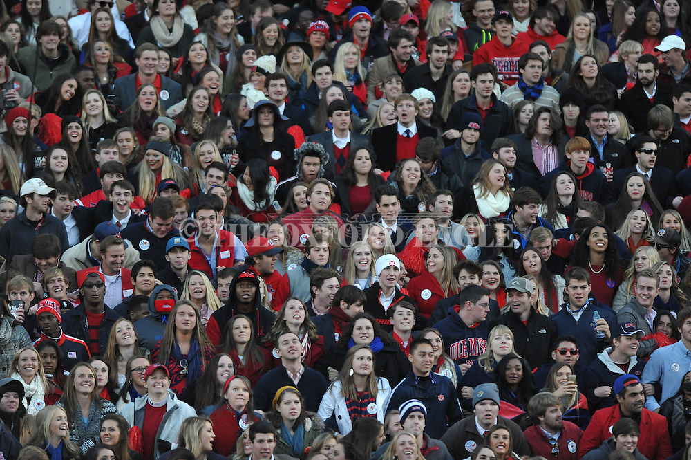 Ole Miss students at Ole Miss vs. Auburn at Vaught-Hemingway Stadium in Oxford, Miss. on Saturday, November 1, 2014. (AP Photo/Oxford Eagle, Bruce Newman)
