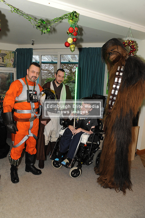 Star Wars, Rachel House, Kinross, 11-12-2016<br /> <br /> People dressed as Star Wars characters to visit children's hospice. Edinburgh 's Capital Sci-Fi Con organiser Keith Armour and other delegates to don costumes and visit children and their families at Rachel House.<br /> <br /> (c) David Wardle   Edinburgh Elite media