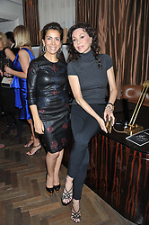 Left to right, KAREN RUIMY and MARIE HELVIN at The Great Initiative event in association with jewellers Boodles held at The Corinthia Hotel, London on 6th November 2012.