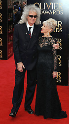 Brian May and Anita Dobson attend The Laurence Olivier Awards at The Royal Opera House, Covent Gardens, London on Sunday 12 April 2015