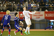 Chris Wood (NZL), <br /> MARCH 5, 2014 - Football /Soccer : <br /> Kirin Challenge Cup 2014<br /> between Japan 4-2 New Zealand <br /> at National Stadium, Tokyo, Japan. <br /> (Photo by YUTAKA/AFLO SPORT)