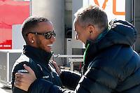 MOTORSPORT - F1 2013 - WINTER TESTS - JEREZ DE LA FRONTERA (ESP) - 05 TO 10/02/2013 - PHOTO : FRANCOIS FLAMAND / DPPI -.HAMILTON LEWIS (GBR) - MERCEDES GP MGP W04 - AMBIANCE PORTRAIT / WHITMARSH MARTIN (GBR) - MCLAREN MERCEDES F1 DIRECTOR - DIRECTEUR MCLAREN MERCEDES F1 - AMBIANCE PORTRAIT