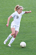 MELBOURNE, VIC - MARCH 06: Paige Satchell (19) of New Zealand controls the ball during The Cup of Nations womens soccer match between New Zealand and Korea Republic on March 06, 2019 at AAMI Park, VIC. (Photo by Speed Media/Icon Sportswire)