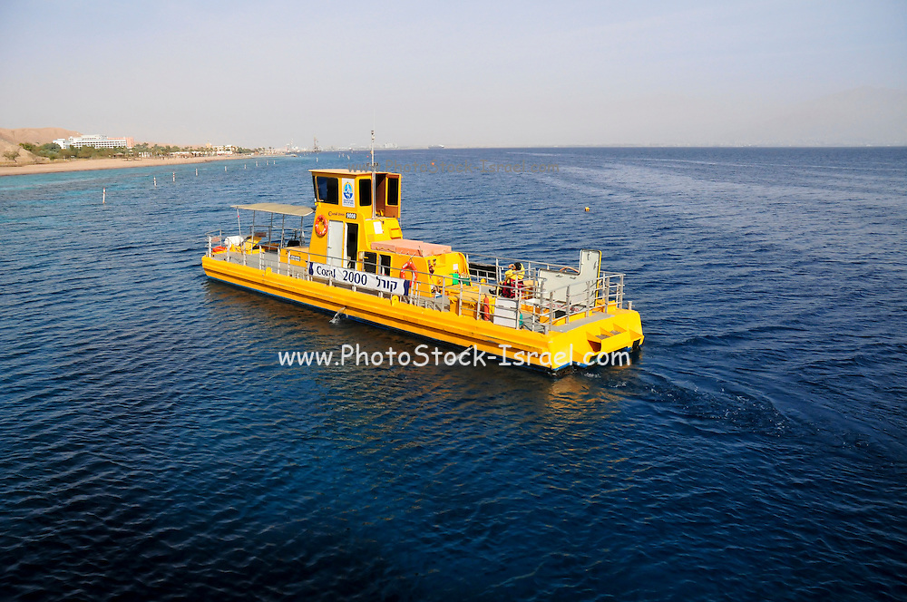 """Israel, Eilat, The underwater observatory Built over a coral reef The """"Yellow Submarine"""" tours the reef"""