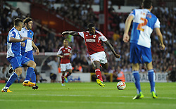 Bristol City's Jay Emmanuel-Thomas shoots outside the box and scores.  - Photo mandatory by-line: Alex James/JMP - Tel: Mobile: 07966 386802 04/09/2013 - SPORT - FOOTBALL -  Ashton Gate - Bristol - Bristol City V Bristol Rovers - Johnstone Paint Trophy - First Round - Bristol Derby