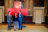8-5-2017 DEN HAAG  - de Koning Willem-Alexander Pieter Christiaan en Hoogheid Prinses Margriet der Nederlanden zijn maandagmiddag 8 mei in de Ridderzaal in Den Haag aanwezig bij de viering van 150 jaar Nederlandse Rode Kruis. Prinses Margriet is aanwezig in haar hoedanigheid van erevoorzitter van het Rode Kruis.COPYRIGHT ROBIN UTRECHT<br /> 8-5-2017 THE HAGUE - King William Alexander and Highness Princess Margriet of the Netherlands will attend the celebration of 150 years of the Dutch Red Cross on Monday afternoon, May 8 in the Ridderzaal in The Hague. Princess Margriet is present in her capacity as rector of the Red Cross. COPYRIGHT ROBIN UTRECHT
