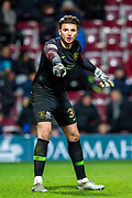 Goalkeeper Matija Sarkic (#30) of Livingston FC during the Ladbrokes Scottish Premiership match between Heart of Midlothian FC and Livingston FC at Tynecastle Park, Edinburgh, Scotland on 4 December 2019.