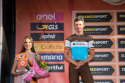 March 24, 2019 - Sanremo, Sanremo, Italy - Oliver Naesen of AG2R La Mondiale seen on the podium during the 110th edition of Milan - Sanremo, cycling race. (Credit Image: © Puletto  Diego/SOPA Images via ZUMA Wire)