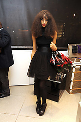 Model JOY VIELI at the MCM Christmas party held at their store at 5 Sloane Street, London on 26th November 2008.