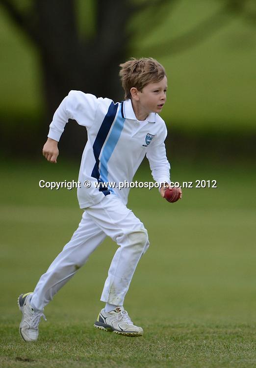 University Cricket Club, Junior Cricket, Year 5 Warriors. Glover Park, St Heliers, Auckland. Saturday 3 November 2012. Photo: Andrew Cornaga/Photosport.co.nz