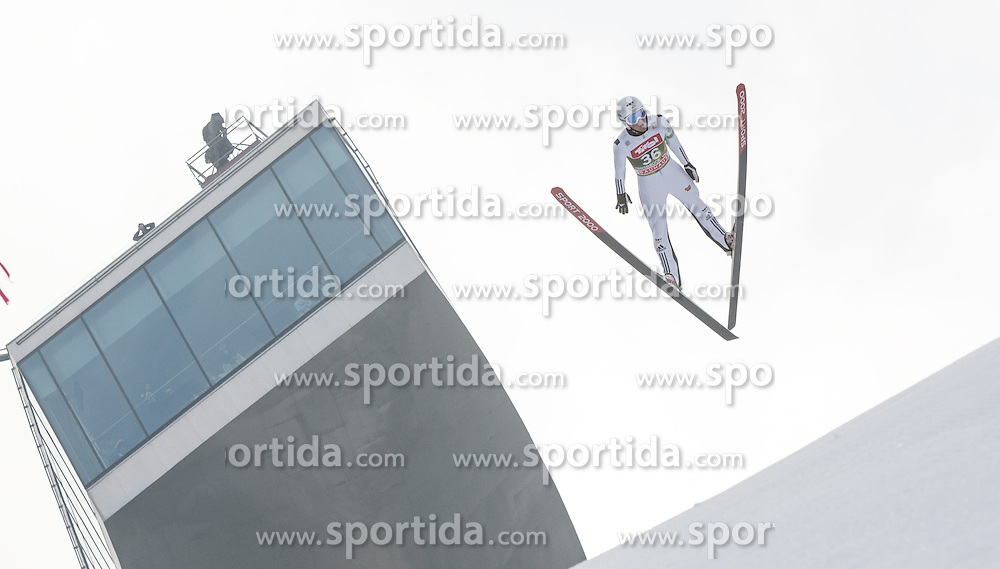 03.01.2015, Bergisel Schanze, Innsbruck, AUT, FIS Ski Sprung Weltcup, 63. Vierschanzentournee, Innsbruck, Training, im Bild Jakub Janda (CZE) // Jakub Janda of Czech Republic soars through the air during a training session for the 63rd Four Hills Tournament of FIS Ski Jumping World Cup at the Bergisel Schanze in Innsbruck, Austria on 2015/01/03. EXPA Pictures © 2015, PhotoCredit: EXPA/ Jakob Gruber