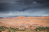 Views from the stunning Ksar of Ait-Ben-Haddou in the Ounila Valley, Morocco.