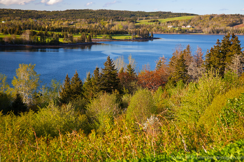 North America, Canada, Nova Scotia, Guysborough. View over the Guysborough harbour.