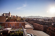"Bologna, panoramic view from the ""I portici"" imperial suite"