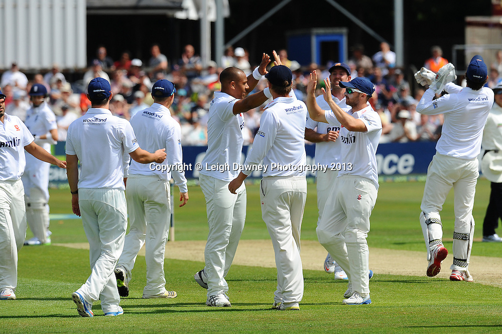 Esses celebrate after Alastair Cook of England is declared out. England v Essex first day of a four day Ashes warm up game at the Essex County Cricket Ground, 30.06.13.  Credit: © Leigh Dawney Photography. Self Billing where applicable. Tel: 07812 790920