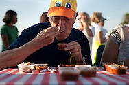 Monty Woolley sits on a three-person judging panel during the Del Mar Rotary's Chili and Quackers Challenge on Saturday, October 24.