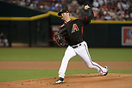 Apr 22, 2017; Phoenix, AZ, USA; Arizona Diamondbacks starting pitcher Robbie Ray (38) delivers a pitch in the first inning against the Los Angeles Dodgers at Chase Field. Mandatory Credit: Jennifer Stewart-USA TODAY Sports