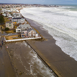 Storm surge pummels coastal route 1A in Rye, New Hampshire during a March Nor'easter in 2018.