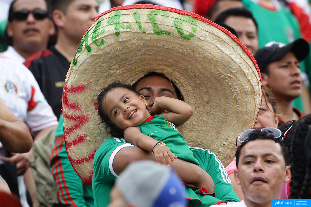 A young mexican fan in the crowd during the Mexico V Wales international football friendly match at MetLife Stadium, East Rutherford, New Jersey, 23rd May 2012. Photo Tim Clayton