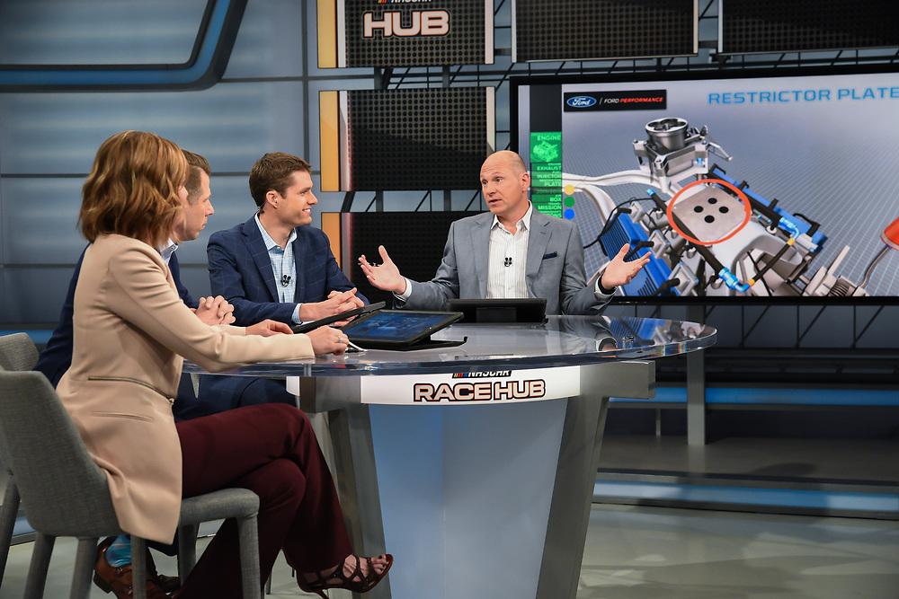 Race Hub broadcast from the Fox Sports studio in Charlotte North Carolina.  (4/11/18)