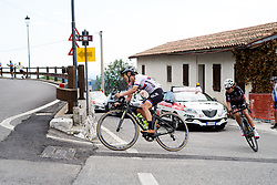 Jelena Eric (SRB) on the final climb of the day during Stage 8 of 2019 Giro Rosa Iccrea, a 133.3 km road race from Vittorio Veneto to Maniago, Italy on July 12, 2019. Photo by Sean Robinson/velofocus.com