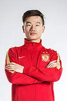 **EXCLUSIVE**Portrait of Chinese soccer player Guo Jing of Guangzhou Evergrande Taobao F.C. for the 2018 Chinese Football Association Super League, in Guangzhou city, south China's Guangdong province, 7 February 2018.