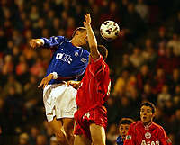 Fotball: Aberdeen v Rangers, Scottish Premier League. Pittodrie. Saturday January 19th.  2002. <br />