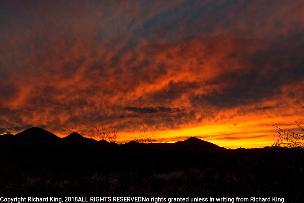 Sunset near Tombstone Arizona, USA