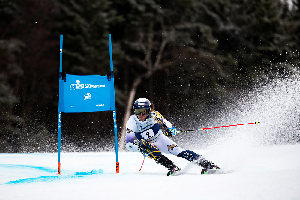 Addison Dvoracek of Montana State University<br /> Giant Slalom<br /> NCAA Skiing Championships<br /> New Hampshire<br /> March 8, 2017