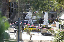 FBI seen at the Borderline Bar & Grill where shooting occured. 12 Nov 2018 Pictured: Thousand Oaks Shooting. Photo credit: MEGA TheMegaAgency.com +1 888 505 6342