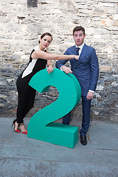 Repro Free: 11/09/2014<br /> Hilary Rose and Ross Browne from The Fear pictured at the RT&Eacute; Two New Season Launch in Gateway House, Capel Street. Picture Andres Poveda