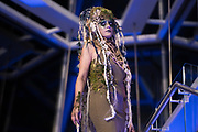 "Model Sarah Milanowksi displays the ""Willow"" hair sculpture during ""Hair Affair: The Art of Hair"" at Madison Museum of Contemporary Art in Madison, WI on Thursday, April 25, 2019. The sixth biennial brought an array of designers and stylists from across Wisconsin to create under the theme of ""Zodiac."""