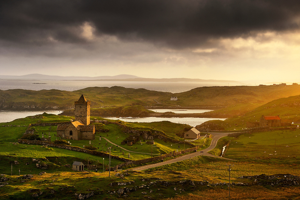 St Clement's Church (Scottish Gaelic: Tur Chliamainn, meaning Clement's Tower) is a fifteenth century church in Rodel, Harris, Scotland, built for the Chiefs of the MacLeods of Harris. It is dedicated to Pope Clement I. It is sometimes known as Eaglais Ròdal or Rodal Church.