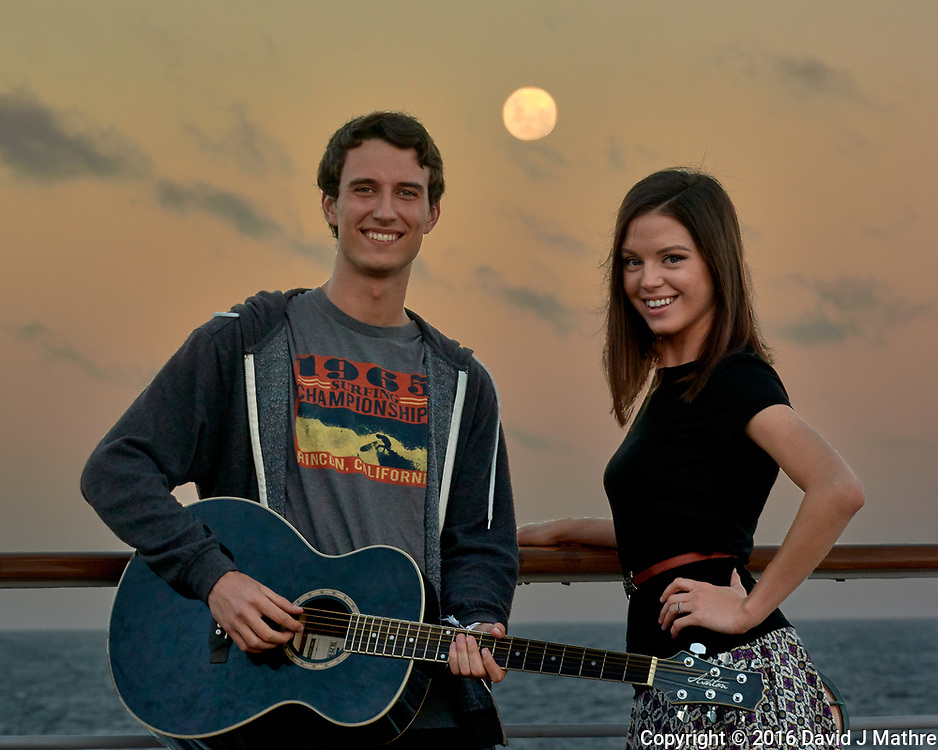 Moon at Dusk over the Atlantic Ocean (Album Cover). Image taken with a Nikon 1 V3 camera and 70-300 mm VR lens