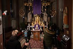Mariborski nadškof metropolit msgr. Alojzij Cvikl during Holy Mass broadcasted on national television on March 29 2020 in Stolna cerkev in Maribor, Slovenia. Photo: Milos Vujinovic /Sportida
