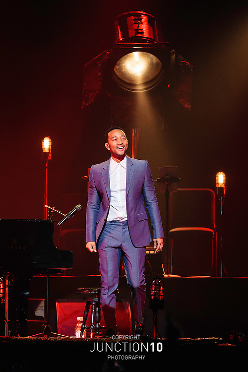 John Legend in concert at the NIA, Birmingham, United Kingdom<br /> Picture Date: 12 October, 2014