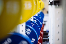 General View of branding in the gym as Bristol Bears start to use their new almost completed Training centre - Rogan/JMP - 08/07/2020 - RUGBY UNION - Beggar Bush Lane - Bristol, England.