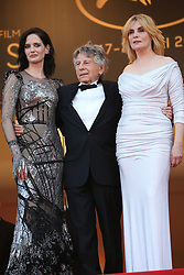 Actors Emmanuelle Seigner, director Roman Polanski and Eva Green attend the Based On A True Story (D'Apres Une Histoire Vraie) screening during the 70th annual Cannes Film Festival at Palais des Festivals on May 27, 2017 in Cannes, France. Photo by Shootpix/ABACAPRESS.COM