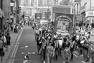 Allerton Silkstone branch banner, 1983 Yorkshire Miner's Gala. Barnsley
