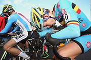 BELGIUM / KOKSIJDE / CYCLING / WIELRENNEN / CYCLISME / CYCLOCROSS / CYCLO-CROSS / VELDRIJDEN / WERELDBEKER / WORLD CUP / COUPE DU MONDE / U23 / AANKOMST / FINISH / ARRIVEE / ZIEL / WOUT VAN AERT (BEL) /