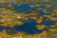 Aerial views on flight from Okavango Delta to Maun, Botswana.