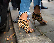 Leopard Heels, Outside Anya Hindmarch SS2017