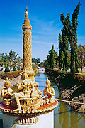 Buddhist Waterway Statue Ubon Rachathani, Thailand <br />