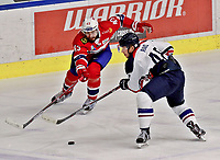 Ishockey , <br /> Norge - Slovakia<br /> GRAZ,AUSTRIA,11.FEB.17 - ICE HOCKEY  - Oesterreich Cup, international match, Norway vs Slovakia. Image shows William Strom (NOR) and Matus Rais (SVK). Norway onlyNorway only