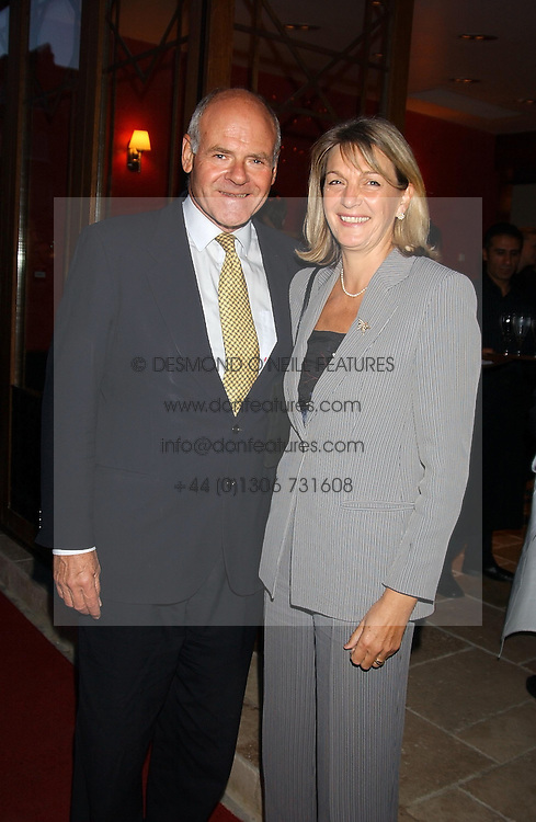 LORD &amp; LADY COLWYN at a party to celebrate the opening of Ishtar - a new mediterainian restaurant in Crawford Street, London W1 on 15th September 2004.<br />